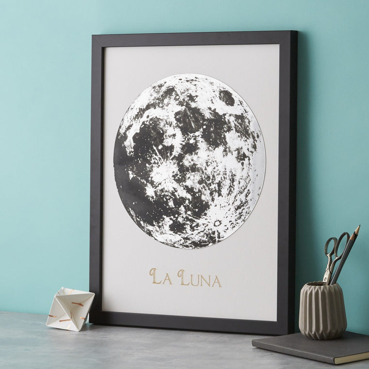 Full Moon Metallic Engraving - Betsy Benn