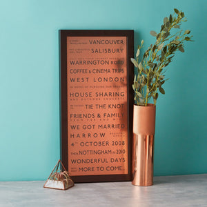 Metallic Personalised Destination Framed Print