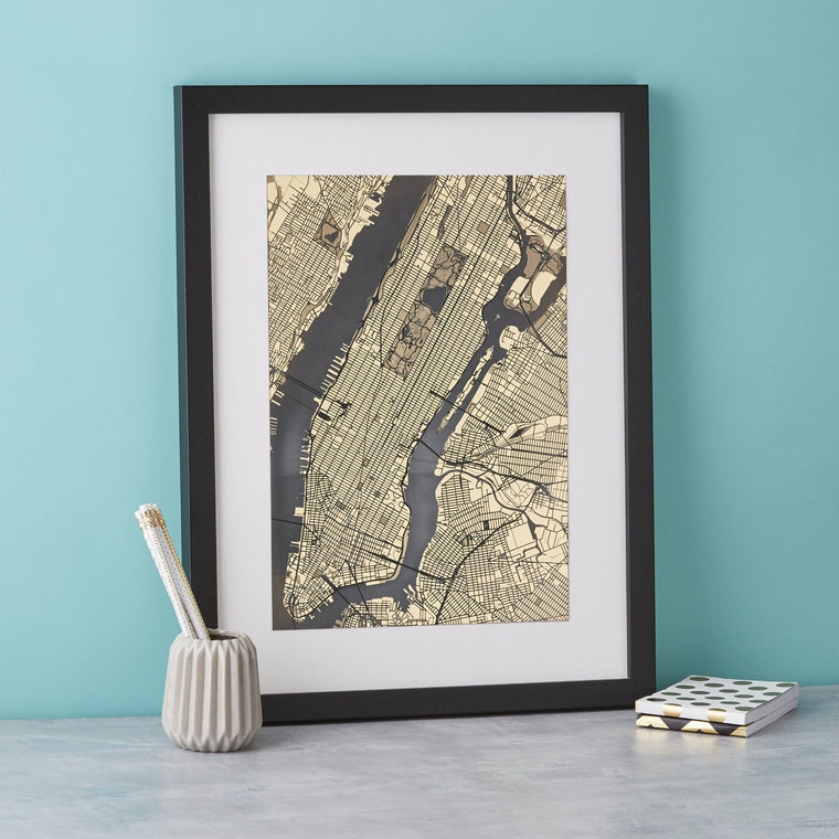 New York Streets of Gold Engraved print - Betsy Benn