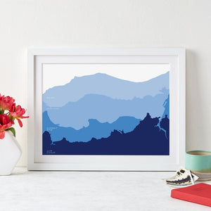 Ombre Coastline Destination Modern Art