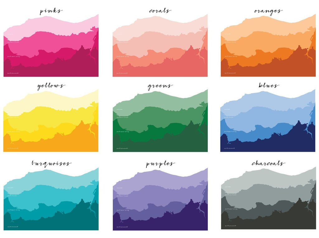 Ombre Personalised Coastline Destination Print - Betsy Benn
