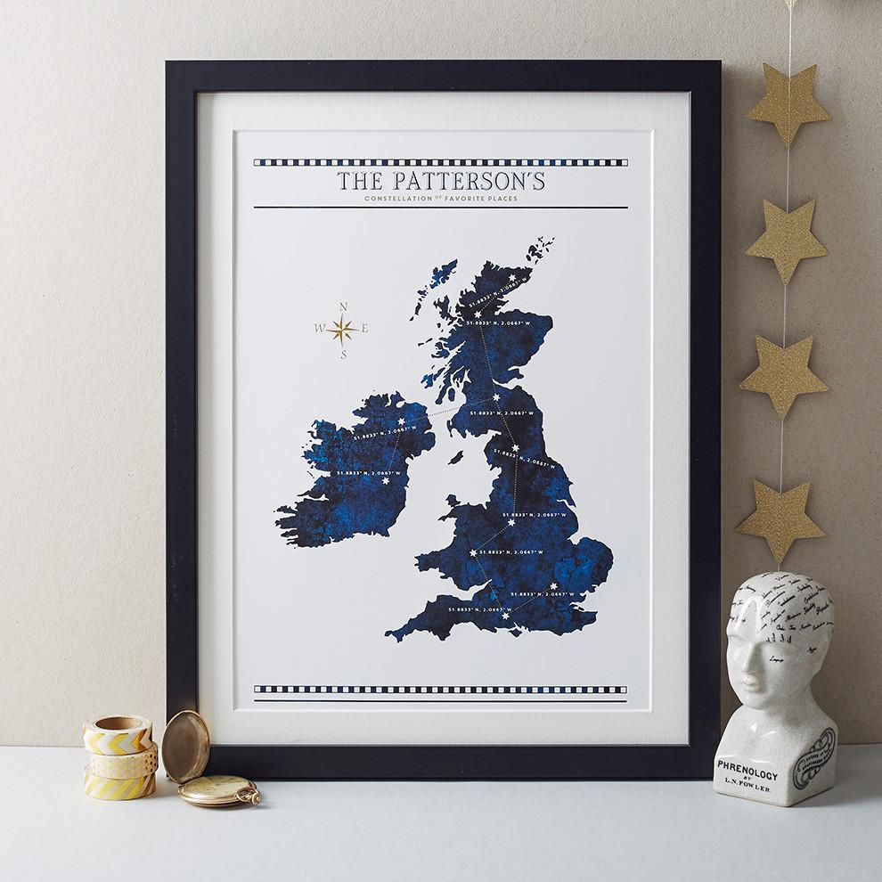 Constellation Of Favourite Places Print