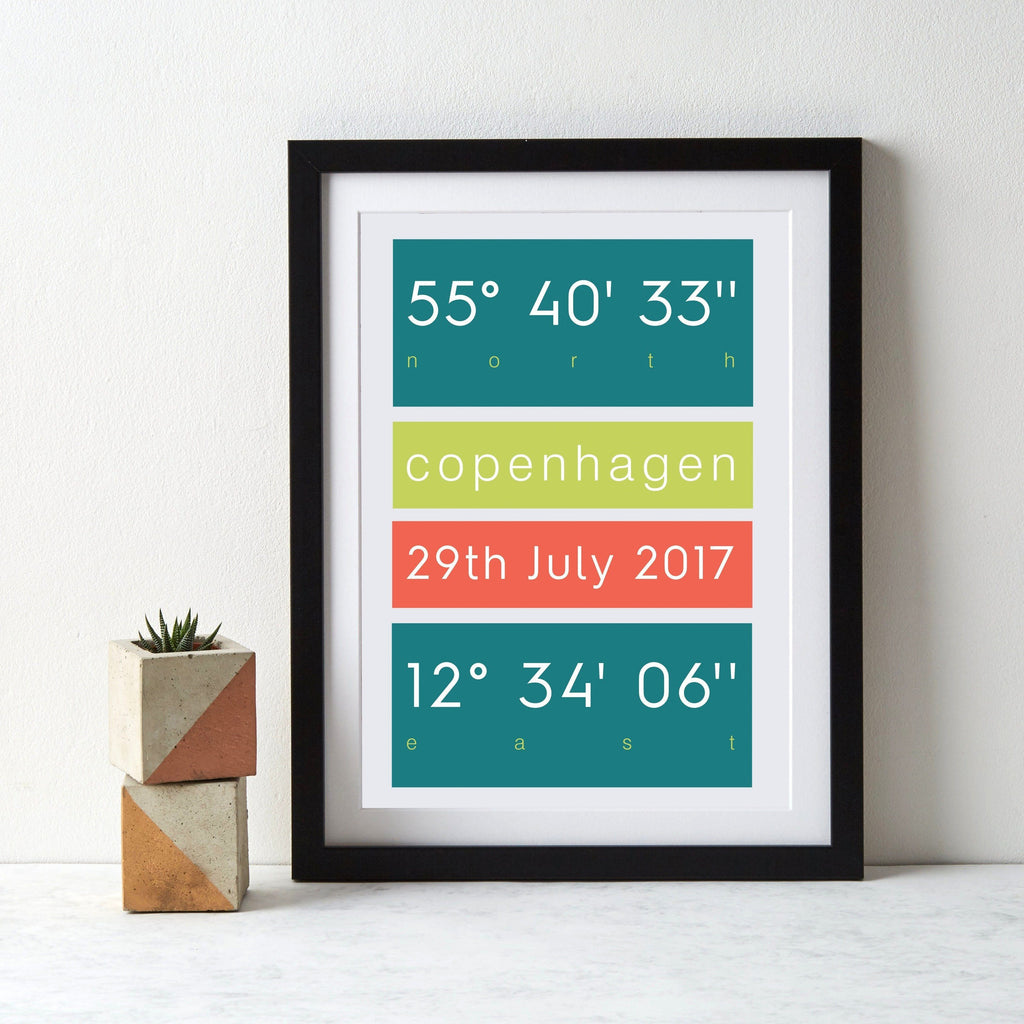 Favourite Place Coordinates Print - Betsy Benn