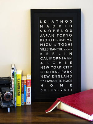 Personalised Destination Bus Blind Prints