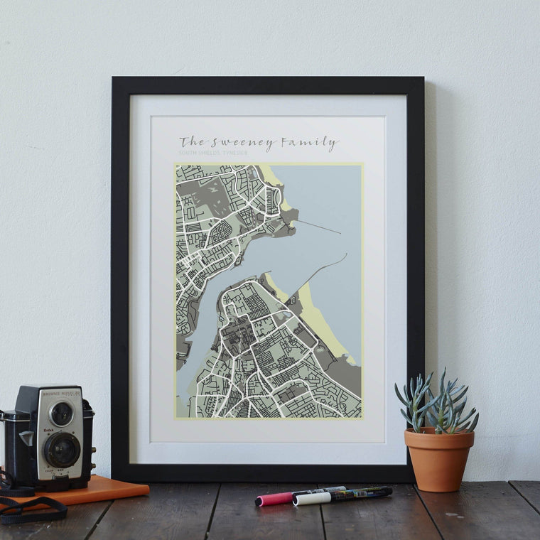 Personalised Family Map print - Betsy Benn
