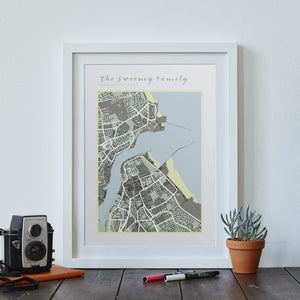 Family Map print