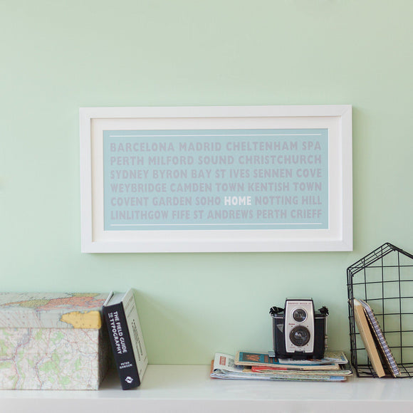 Betsy Benn Print Personalised Home Destination Print