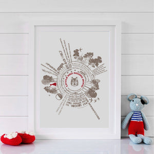 Little Red Riding Hood Story Print  Print - Betsy Benn