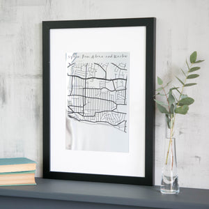 Metallic Map Engraving  Print - Betsy Benn