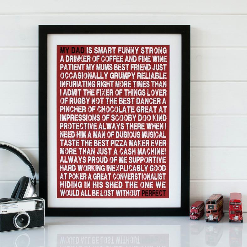 Personalised My Dad Is Print - Betsy Benn