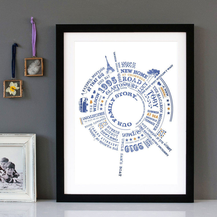 Betsy Benn Print Personalised Our Family Story Print
