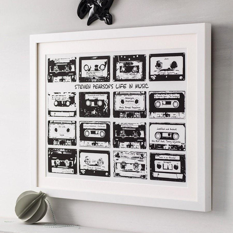 Retro Cassette Playlist Print