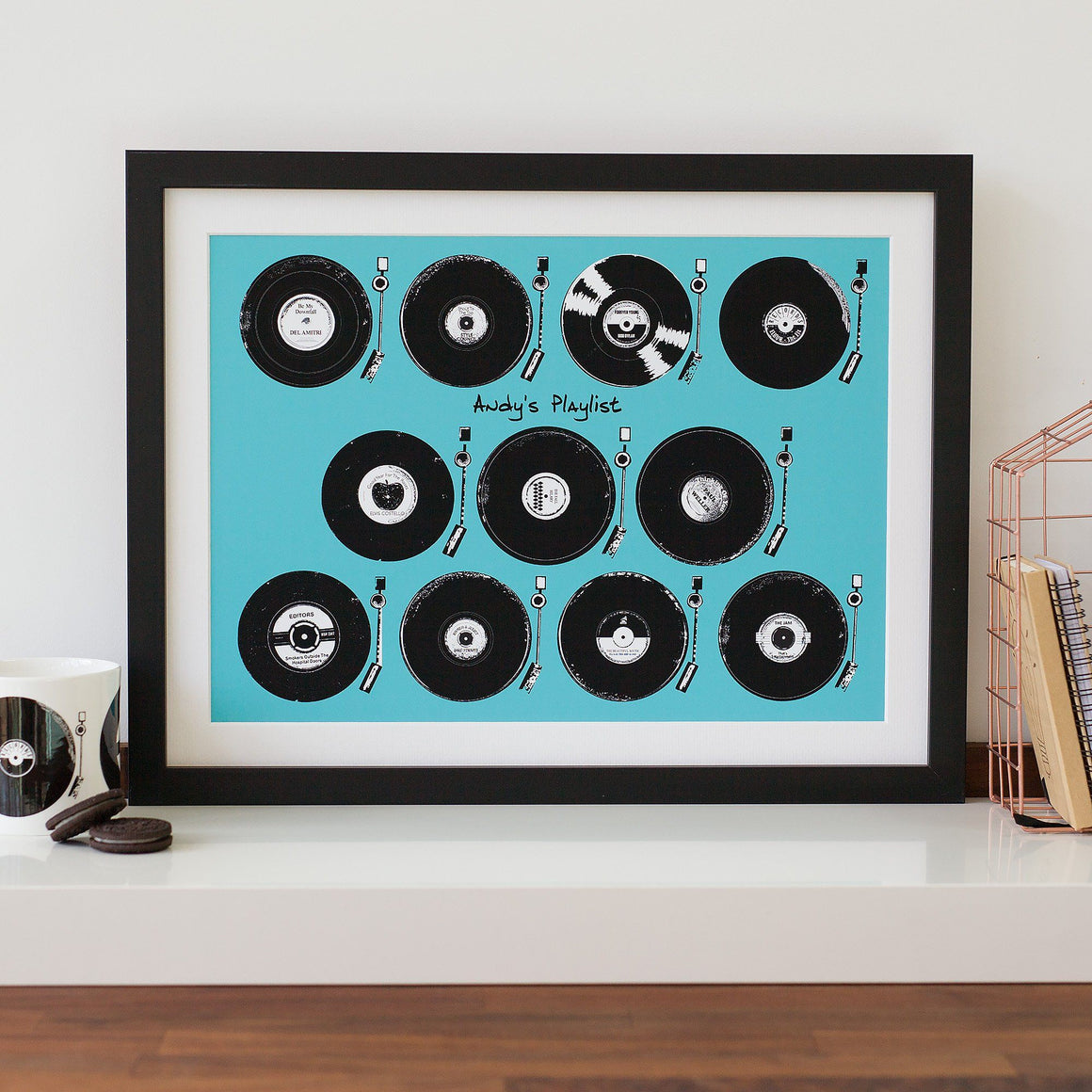 Vinyl LP Album Playlist Print