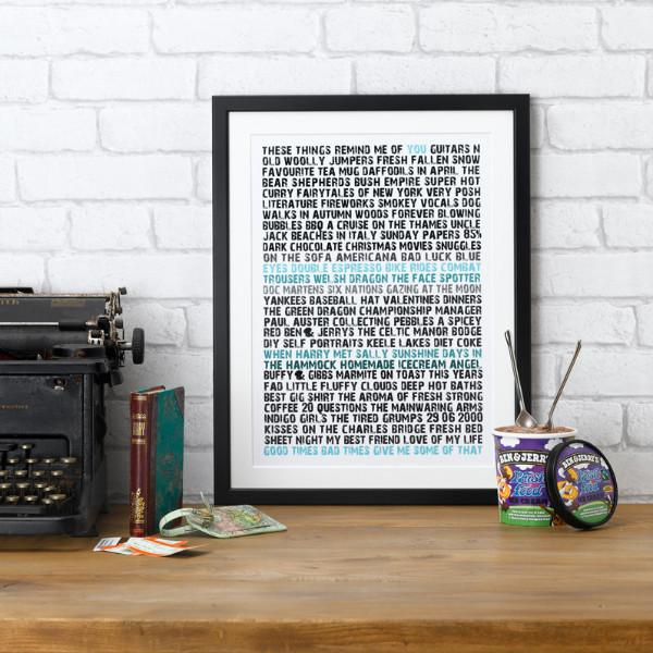 Betsy Benn Print Personalised Remind Me Of You Print