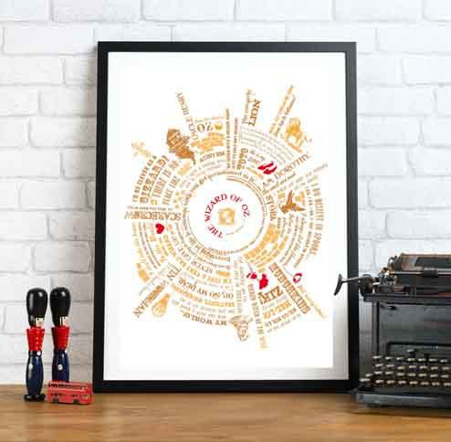 Betsy Benn Print Personalised Wizard of Oz Story Print