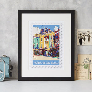Portobello Road Stamp Art Print