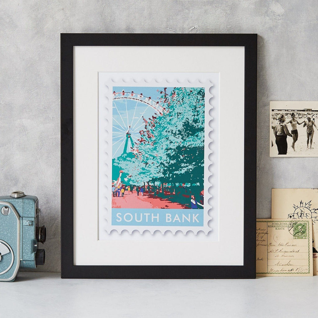 South Bank Stamp Art Print - Betsy Benn