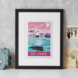 St Ives Stamp Art Print