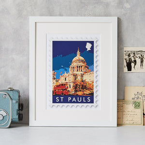 St Paul's Stamp Art Print