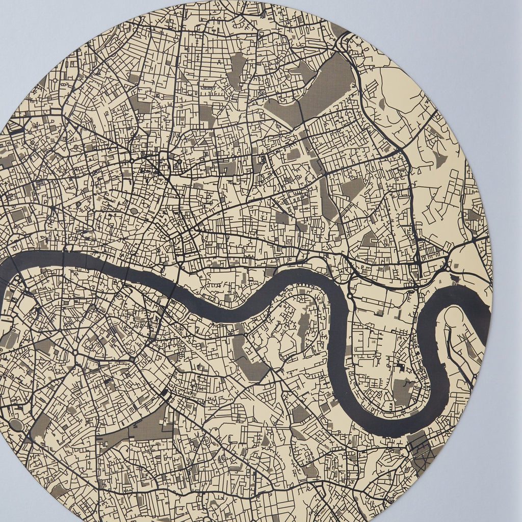 Streets of London Gold Engraved Print - Betsy Benn