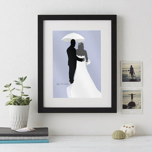 Wedding Silhouette Print