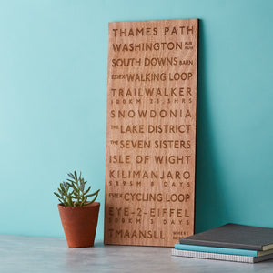Wooden Destination Bus Blind