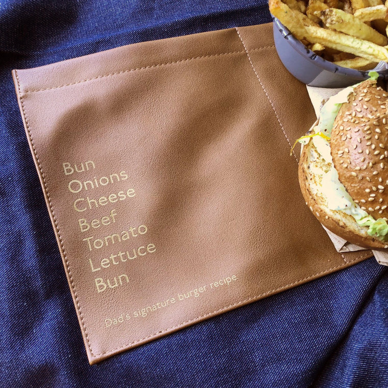 Dad's Own Burger Recipe Personalised Denim Apron - Betsy Benn