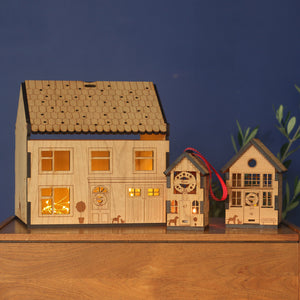 Personalised Wooden Christmas Eve Box House