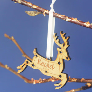 Reindeer Personalised Christmas Ornament