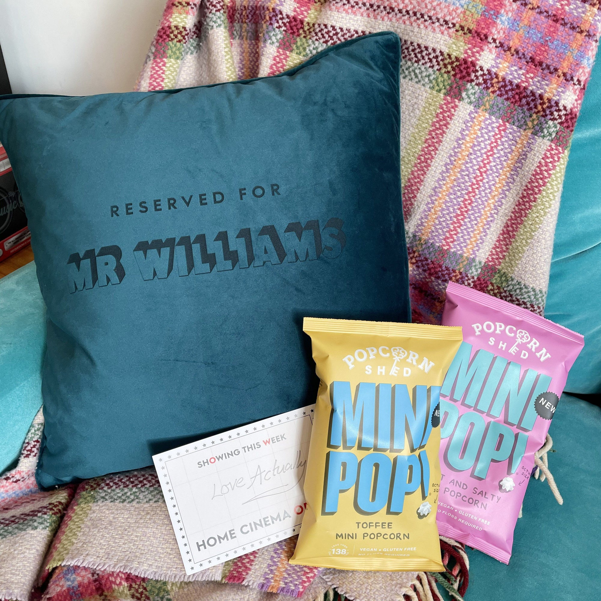 Home Cinema Cushion and Popcorn Gift set-Betsy Benn