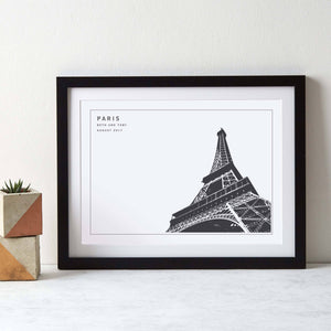 Eiffel Tower Monochrome Paris Art  Print - Betsy Benn