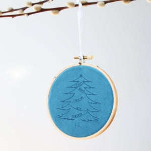 Velvet Family Tree Christmas Decoration  Decoration - Betsy Benn