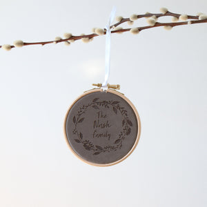 Velvet Christmas Wreath Hoop