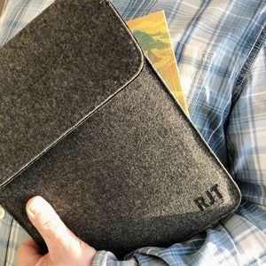 Monogram Personalised Felt iPad Sleeve