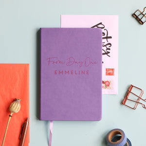 From Day One Personalised Luxury Notebook Journal
