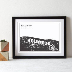 Hollywood Monochrome Art Print  Print - Betsy Benn