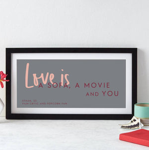 Personalised Love Is Quote Print  Print - Betsy Benn