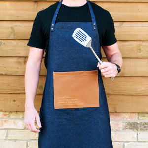 Denim Faux Leather Artisan Apron
