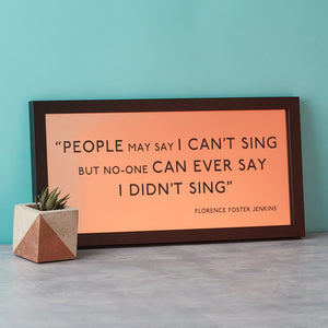 Metallic Favourite Quote Framed Print