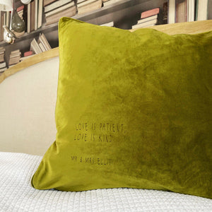Modern Quote Personalised Velvet Cushion-Betsy Benn