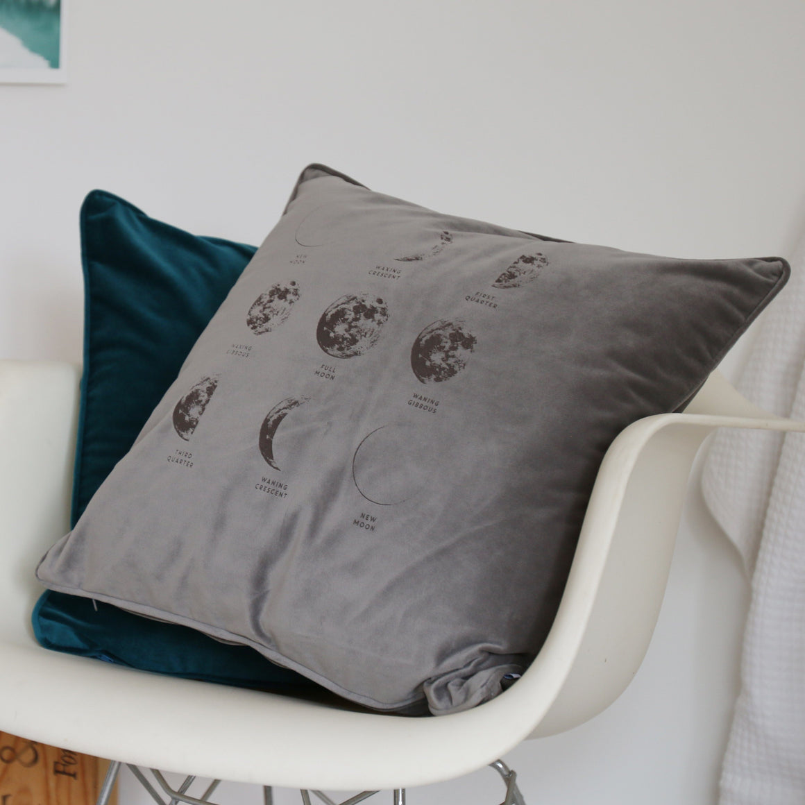 Phases of the Moon Velvet Cushion
