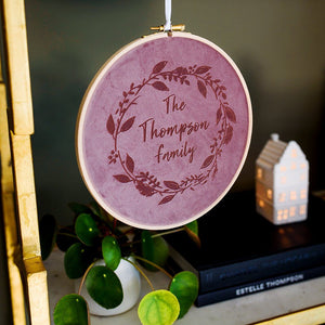 Velvet Christmas Wreath Hoop  Decoration - Betsy Benn