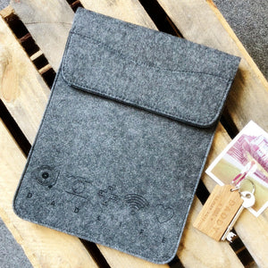 Personalised Icon Felt iPad Sleeve