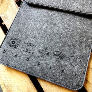 Personalised Icon Felt iPad Sleeve  Gift - Betsy Benn