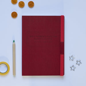 Red Christmas Planning Notebook
