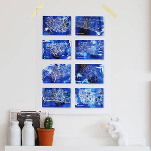 Our Eight Wonders Of The World Personalised Map Print