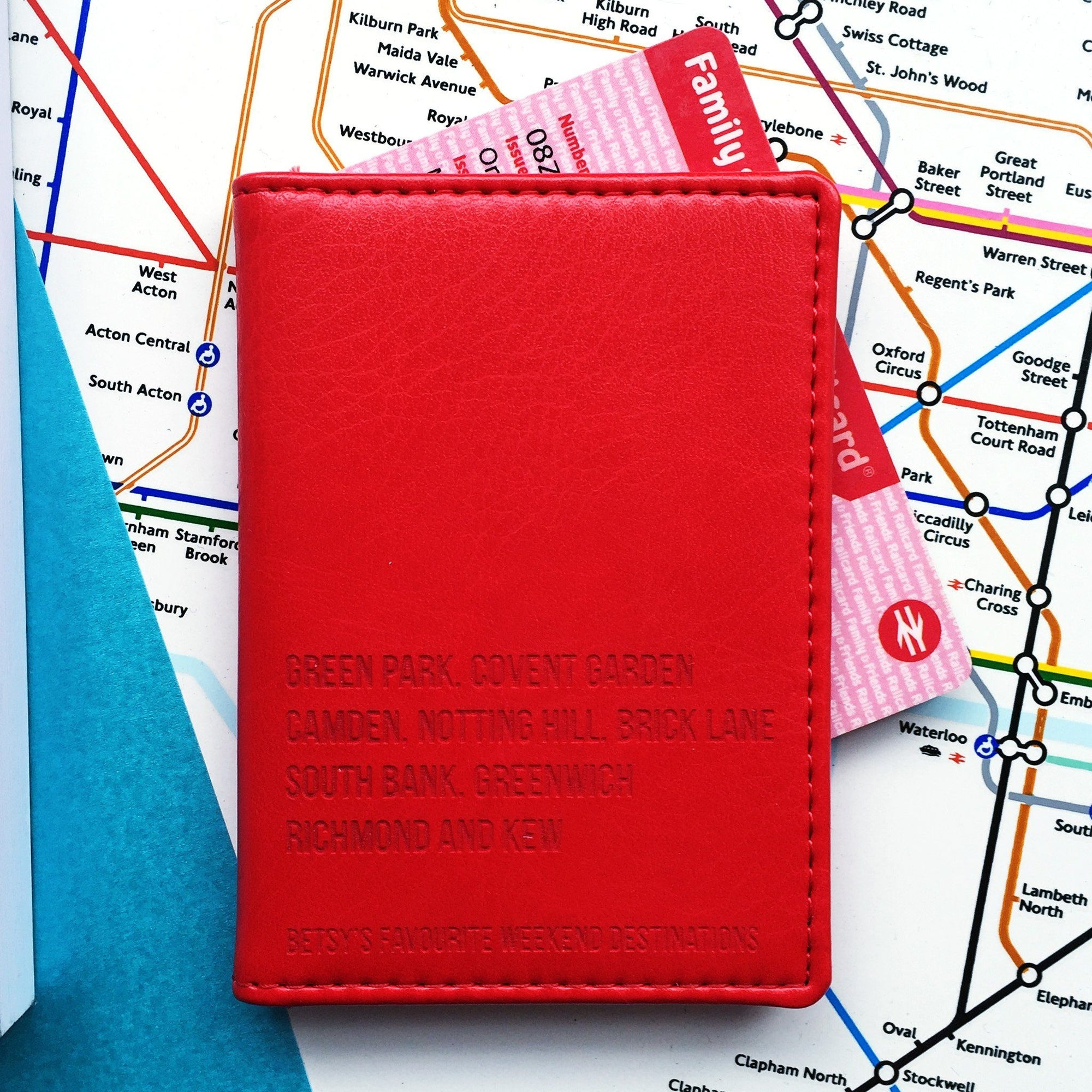 Favourite Destinations Oyster Travel Card Cover-Gift-Betsy Benn
