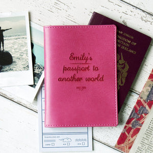 Pink Passport Holder Betsy Benn Luna
