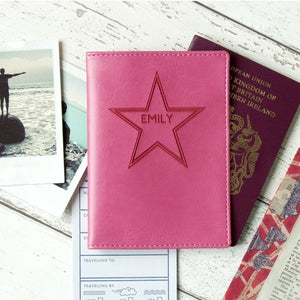 Name In Star Passport Wallet Holder