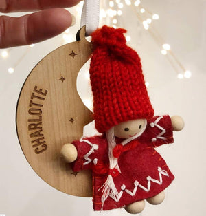 Scandi Christmas Character Personalised Tree Decoration